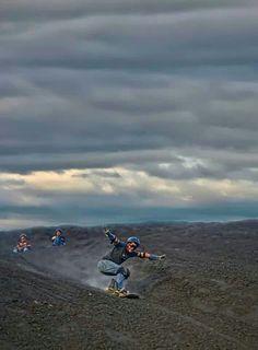 """Sand boarding ""down Cerro Negro Volcano, Nicaragua"
