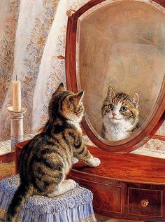 Mirror, mirror on the wall, who is the most beautiful of all ?  Frank Paton (1855-1909)