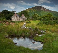 Abandoned Cottage Lochranza, Isle of Arran - effects of Culloden Scotland left ravaged.