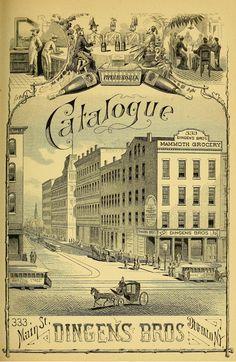 Vintage Catalogue Cover for Dingens Bros., Buffalo, NY 1882 | by CharmaineZoe's Marvelous Melange