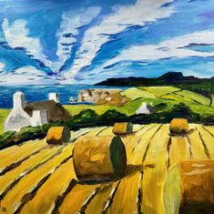 Somewhere in West Cork- Landscape original oil painting inspired by Farming in rural Ireland Funny Pigs, West Cork, Farm Art, Portraits From Photos, Vintage Art Prints, Portrait Illustration, Canvas Frame, Landscape Paintings, My Arts