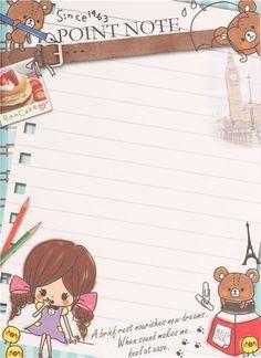 cute London Paris travell bear Note Pad by Q-Lia 6
