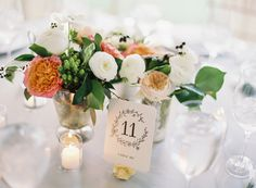 Reception Flowers in Mercury Glass Vases | photography by http://vickigraftonphotography.com/