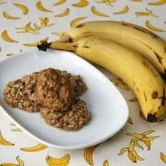 This is not the link. . . but I used 1 Cup of Oatmeal and 2 (ripe) bananas. Baked at 375 for 10-12 minutes in cupcake tins, and Bella LOVES them. SUPER CHEAP. Healthy, and yummy. :)
