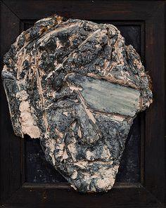 Kain Tapper: Omakuva, 1967, maalattu keramiikka, puukehys, 34x29 cm - Bukowskis F179 Bukowski, Art Object, Finland, Statues, Sculptures, Objects, Faces, Artists, Portrait