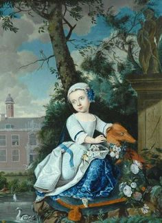 Girl with a Dog by Matthys Naiveu (attributed to) The Bowes Museum Date painted: 17th C Oil on canvas, 46.3 x 34.6 cm Collection: The B