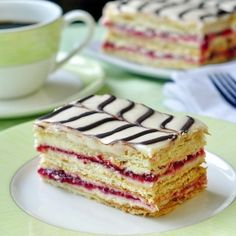 Raspberry Buttercream Mille Feuille - using ready made frozen puff pastry makes this impressive dessert easier to prepare than you think.