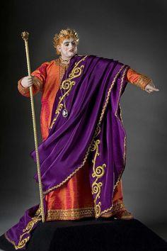Full length color image of Emperor Nero aka. Nero Claudius Caesar Augustus Germanicus, by George Stuart.