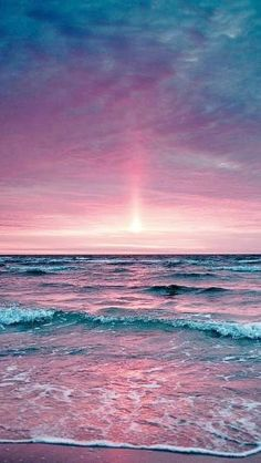 Beautiful pink & purple sunset by Gloria Garcia