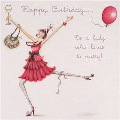 Cards » To a lady who loves to party » To a lady who loves to party - Berni Parker Designs