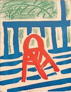 ( the red chair, david hockney )