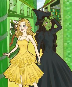 """The musical. Elphaba and Galinda. with a """"gaaa""""! You're going to be popular! The musical. Elphaba and Galinda. with a """"gaaa""""! You're going to be popular! Wicked Musical, Broadway Wicked, Broadway Theatre, Wicked Witch, Musical Theatre, Wicked Book, Elphaba And Glinda, Yuri, The Witches Of Oz"""
