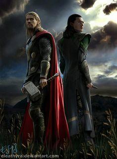 Thor and Loki fanart