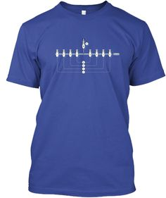 Lx Menorah Deep Royal T-Shirt Front