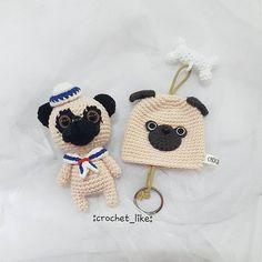 pug set (key chain&keycover) Special price when buy 2 pieces. contact⇨ on my dm #crochet#crocheting#handmade#crochetlover #amigurumi#pug#dog#pugdog #gift#doll#keycover#bagcharm #accessorieslovers #sell#crocheting#crochetaddict #yarnaddict