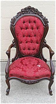 John Henry Belter Rococo Revival Rosewood Gent's Armchair  c. 1855