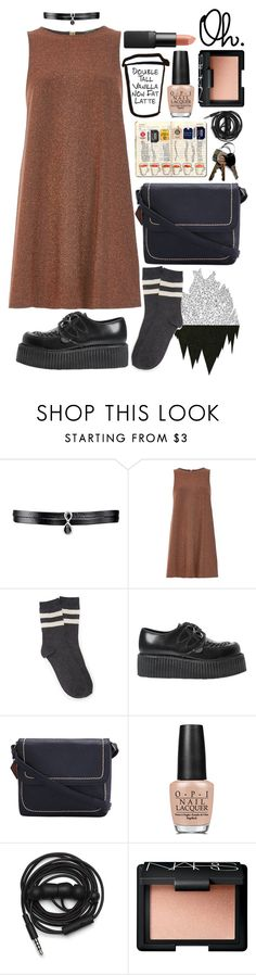 """""""R U S T"""" by m-athilda ❤ liked on Polyvore featuring Fallon, River Island, Forever 21, Underground, OPI, Urbanears and NARS Cosmetics"""