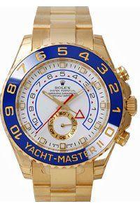 Men's 18K Gold Rolex Yachtmaster II Model   116688 $39995 #Watch #Rolex
