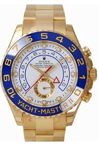 Men's 18K Gold Rolex Yachtmaster II Model   116688 $39995 #Watch #Rolex