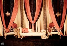 Vintage inspired stage setup by A Perfect Setting.  Photo by MLR Photography (Toronto).