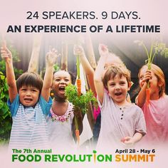 It's time to take control of your health and the health of our planet, and now it's easier than ever! Get the knowledge you need from today's top food and health experts completely free! Join the online Food Revolution Summit today. Health And Wellness, Health Fitness, True Food, Endocrine System, Time To Eat, Hormone Balancing, Health Articles, Take Care Of Yourself, Stay Fit