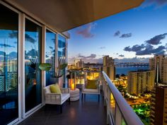 Learn more about the HGTV Urban Oasis terrace, a chic balcony that provides views of Biscayne Bay. See terrace pictures and take a virtual tour of the terrace of HGTV Urban Oasis 2012.