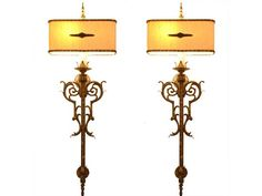 A Wonderful Pair of American Mid 20th Century Large Wall Sconces