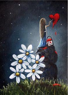 Kai Fine Art is an art website, shows painting and illustration works all over the world. Fantasy Kunst, Fantasy Art, Art Amour, Art Fantaisiste, Art Mignon, Angel Art, Fairy Art, Heart Art, Whimsical Art