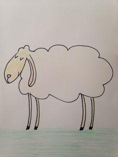#sheep #illustration #drawing #floortinga #postcard