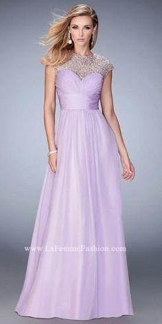 Crystal Illusion Sweetheart Prom Dress by La Femme  #dress #fashion #designer #lafemme #edressme