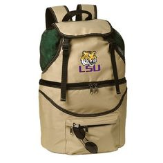 NCAA LSU Tigers Zuma Insulated Backpack by Picnic Time. $39.95. Digital print team logo. Durable polyester canvas construction. One Zuma insulated backpack in team colors with digital print team logo. Wipe clean. polyester. Features dual sections, great for keeping clothes dry, and foods at the right temperature. NCAA LSU Tigers Zuma Insulated Backpack. Save 20% Off!