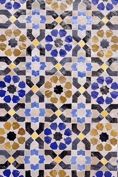 Arabic Mosaic Of Colors That Form A Beautiful Puzzle Stock Photo, Picture And Royalty Free Image. Paper Piecing Patterns, Textile Patterns, Style Marocain, Arabic Design, Wall Carpet, English Paper Piecing, Moorish, Mosaic Tiles, Mosaic Floors