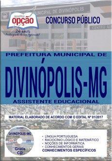 Promoção -  Apostila Concurso Prefeitura de Divinópolis 2018 - ASSISTENTE EDUCACIONAL  #apostilas