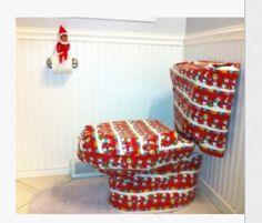 Elf on shelf wrapping toilet