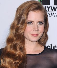 View and try on this Amy Adams Long Wavy Casual  hairstyle - Medium Red…