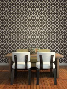 Moroccan Wall Decor Stencil Chez Ali Allover Stencil for Wall Decor. $52.00, via Etsy.