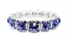 Victorian Style Bracelet - Austrian Crystal Tanzanite - Road To Avonlea - Period…