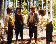 Frodo, Sam, Merry & Pippin in Rivendell