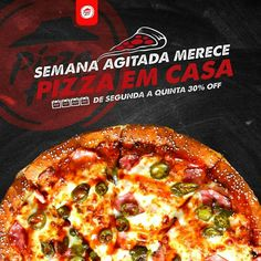 Chamada para divulgação de propaganda para uma promoção na pizzaria. Pizza Poster, Restaurant Poster, Pizza Logo, Food Promotion, Healthy Pizza, Food Quotes, Food Decoration, Pizza Hut, Social Media Design