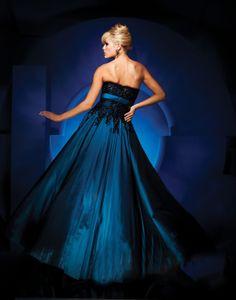 Taffeta Ball Gown Strapless Prom Dress