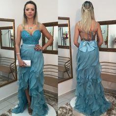 Sexy Sequins Hi-Lo Ruffles Prom Dress 2017 Spaghetti Strap Sweep Train
