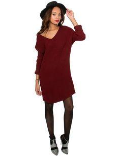 Oxblood Sweaterdress
