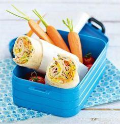 fürs Büro Gemüse-Wraps mit Putenbrust Rezept
