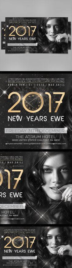 New Years Eve 2017 Flyer Template PSD. Download here: https://graphicriver.net/item/new-years-eve-flyer/17506231?ref=ksioks