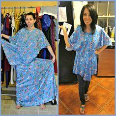 A No-Sew dress to top refashion!  :)