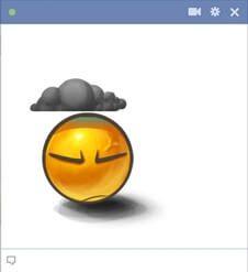 Emoticon em um clima sombrio