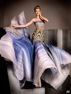"""Not REALLY wearable, unless you want to stand around and """"swish"""" but like the colors! Blanka Matragi 2012"""