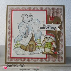 """**StempelQueen**: **...CC Designs November Release Day 3 """"Winter Cottage&Winter Bunny""""...**"""