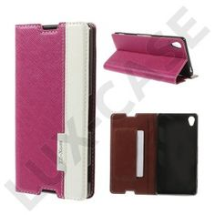 Edwardson (Hot Pink) Sony Xperia Z3 Læder Flip Etui