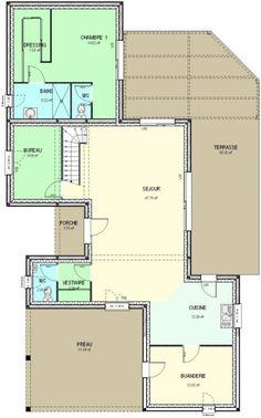 plan de maison 120m2 plans maison pinterest plan de. Black Bedroom Furniture Sets. Home Design Ideas